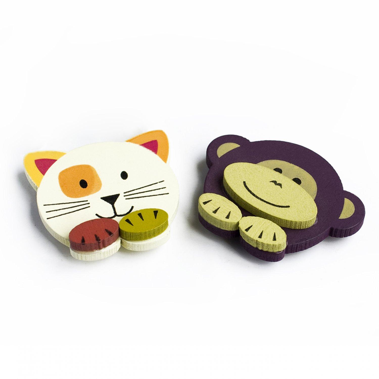 HC-BP005-MOCA[Monkey & Cat] - Brooch / Brooch Pin / Animal Pin Brooch