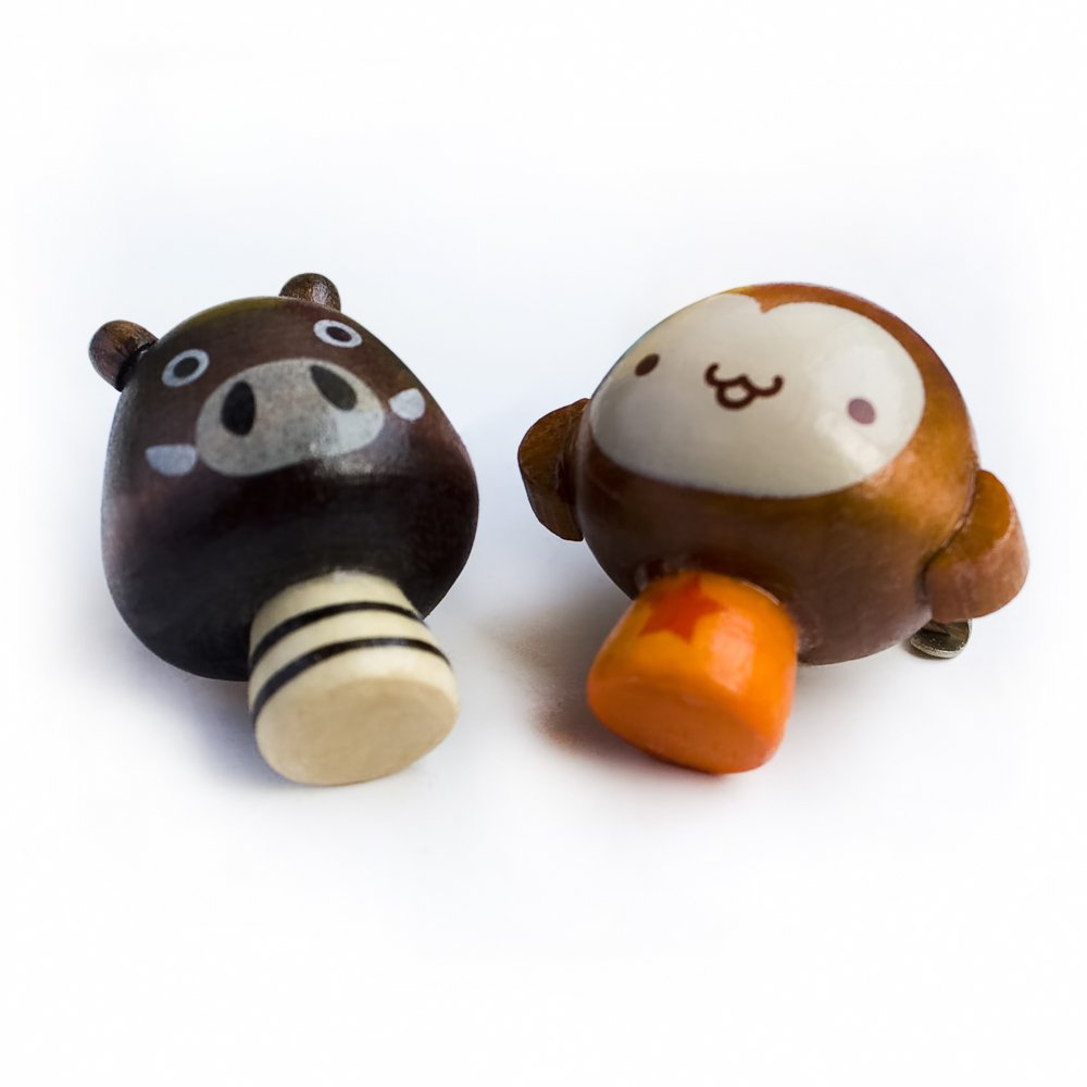 HC-BP006-MOWD[Sweet Monkey & Pig] - Brooch / Brooch Pin / Animal Pin Brooch