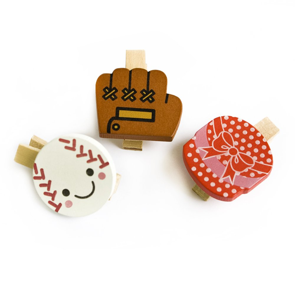 HC-WC004-B[Colorful Life-B] - Wooden Clips / Wooden Clamps / Mini Clips