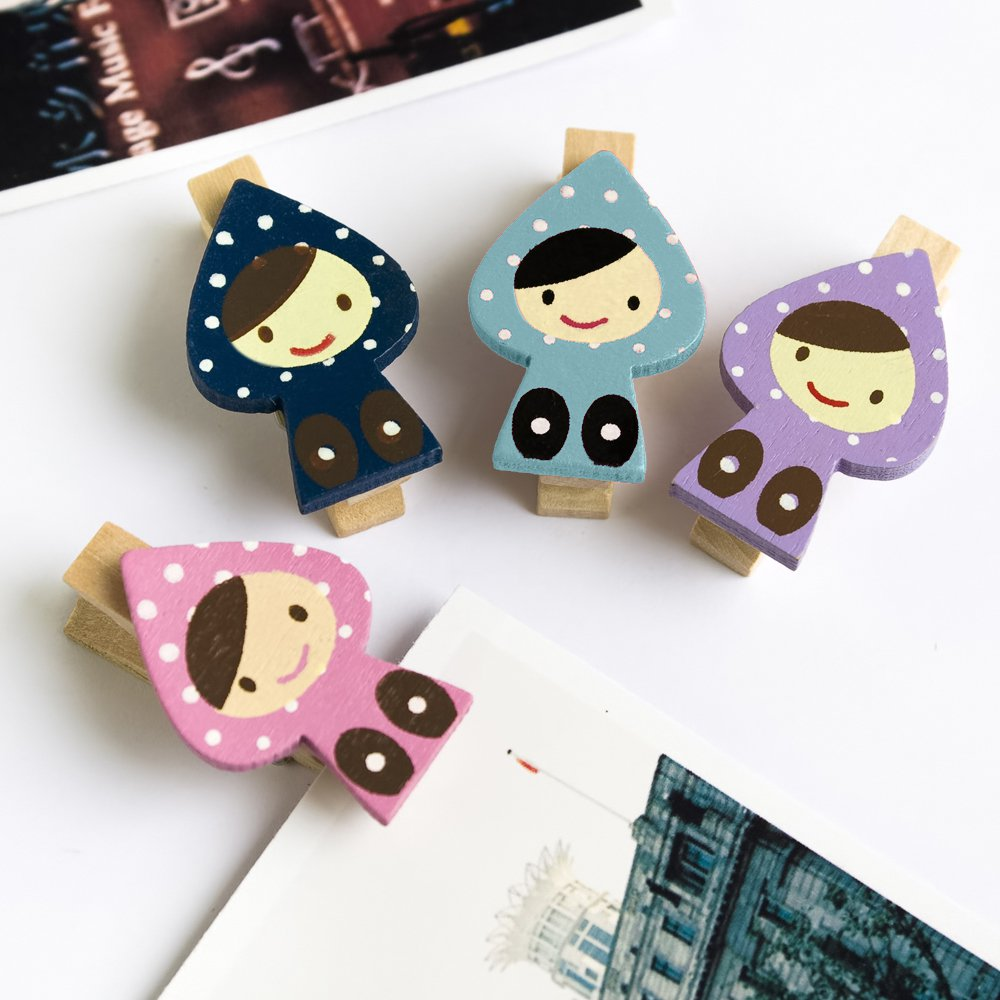 HC-WC007[Sweet Doll] - Wooden Clips / Wooden Clamps / Mini Clips