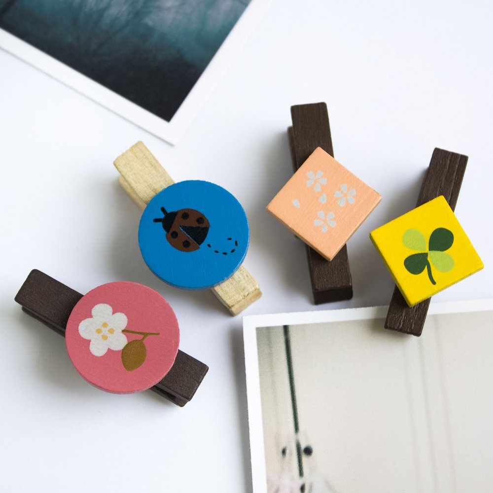 HC-WC009[Colorful Clips] - Wooden Clips / Wooden Clamps / Mini Clips