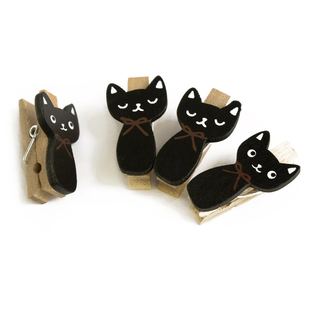 HC-WC020[Naughty Cat] - Wooden Clips / Wooden Clamps / Mini Clips