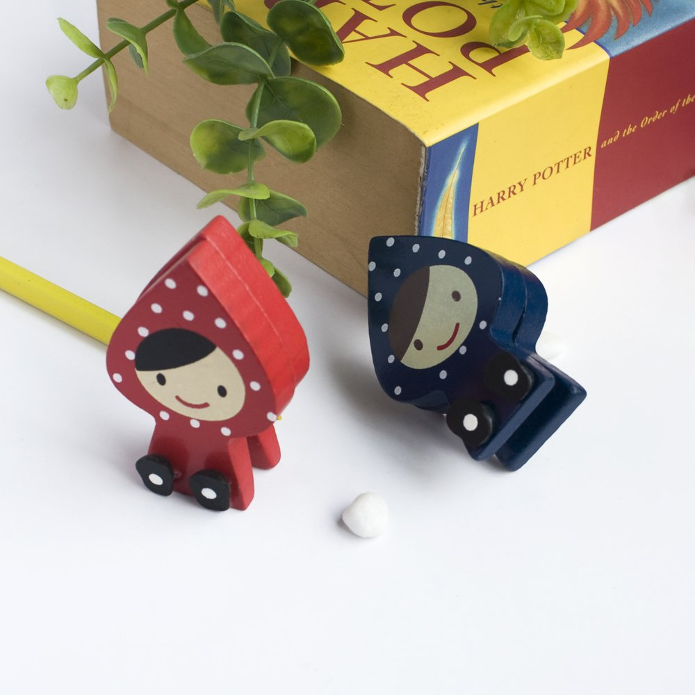 HC-CH002-REBL[Lovely Doll] - Card Holder / Wooden Clips / Wooden Clamps / Animal Clips