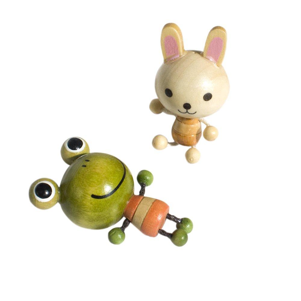 HC-RM004-RAFR[Rabbit & Frog] - Refrigerator Magnets / Animal Magnets