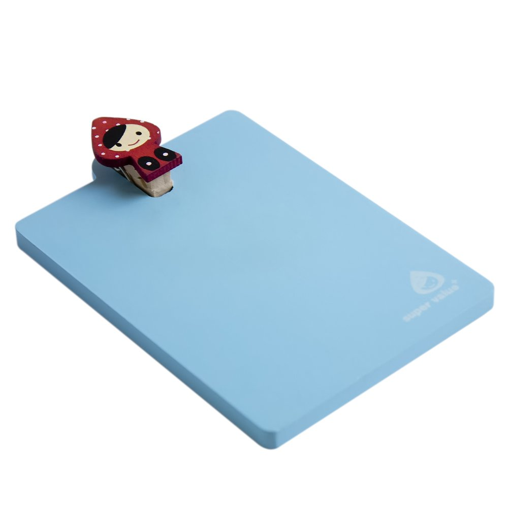 HC-RMC001-BLUE[Lovely Doll-2] - Refrigerator Magnet clip / Magnetic Clipboard