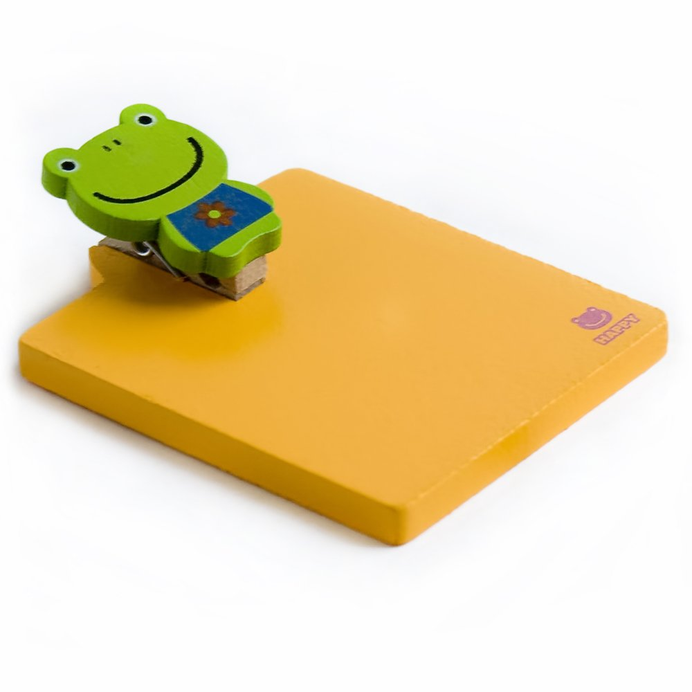 HC-RMC003-YELLOW[Sweet Animals-7] - Refrigerator Magnet clip / Magnetic Clipboard