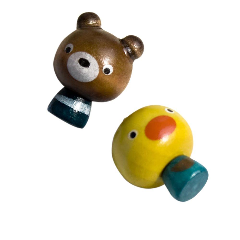 HC-RM009-BECH[Mini Bear & Chicken] - Refrigerator Magnets / Animal Magnets
