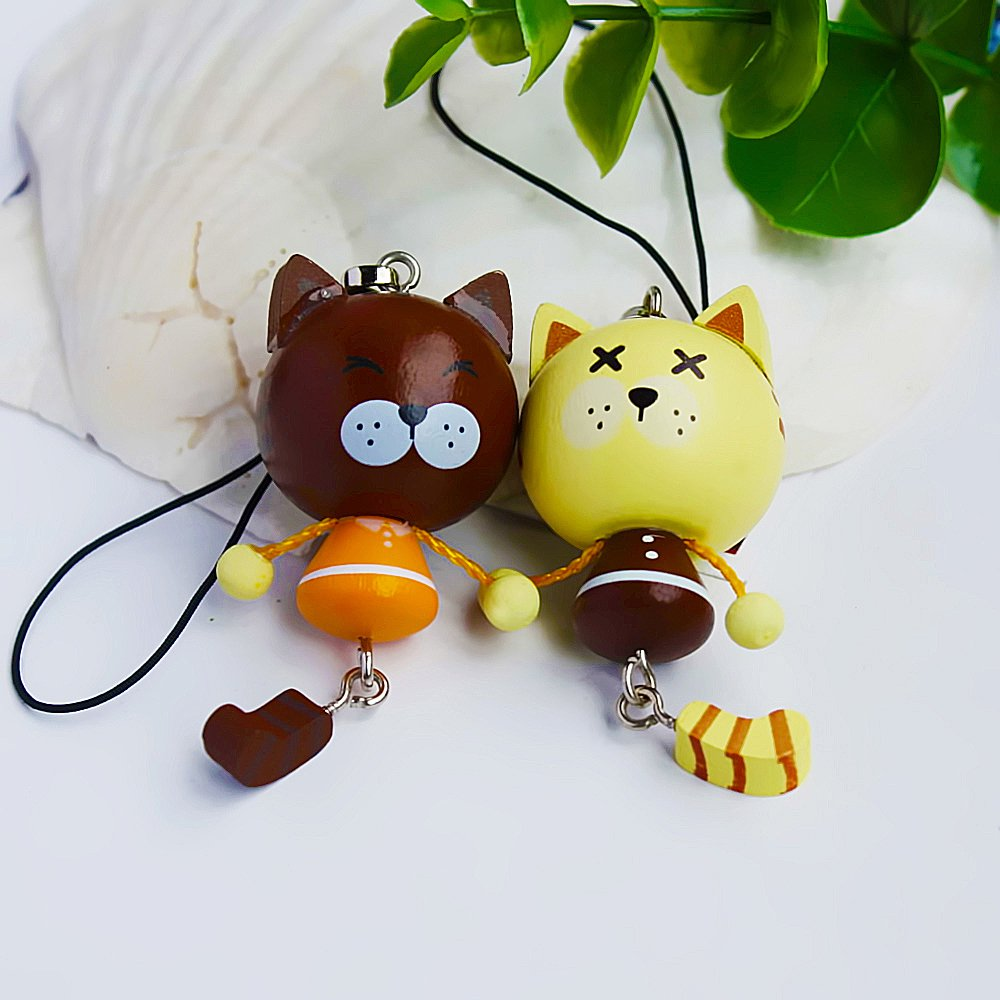 HC-C006-BROF[Naughty Cat-2] - Cell Phone Charm Strap / Camera Charm Strap / Handbags Charms