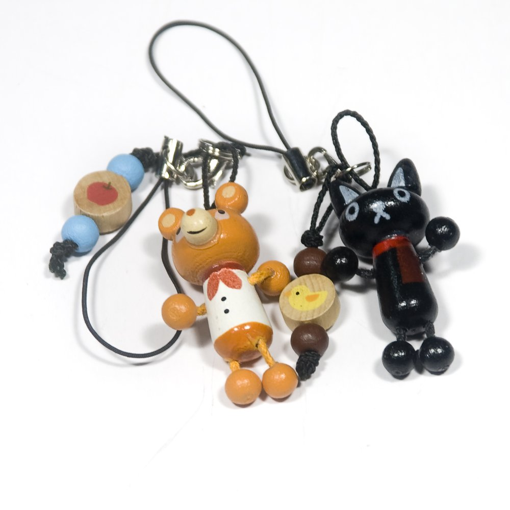 HC-C008-CABE[Black Cat & Bear] - Cell Phone Charm Strap / Camera Charm Strap / Handbags Charms