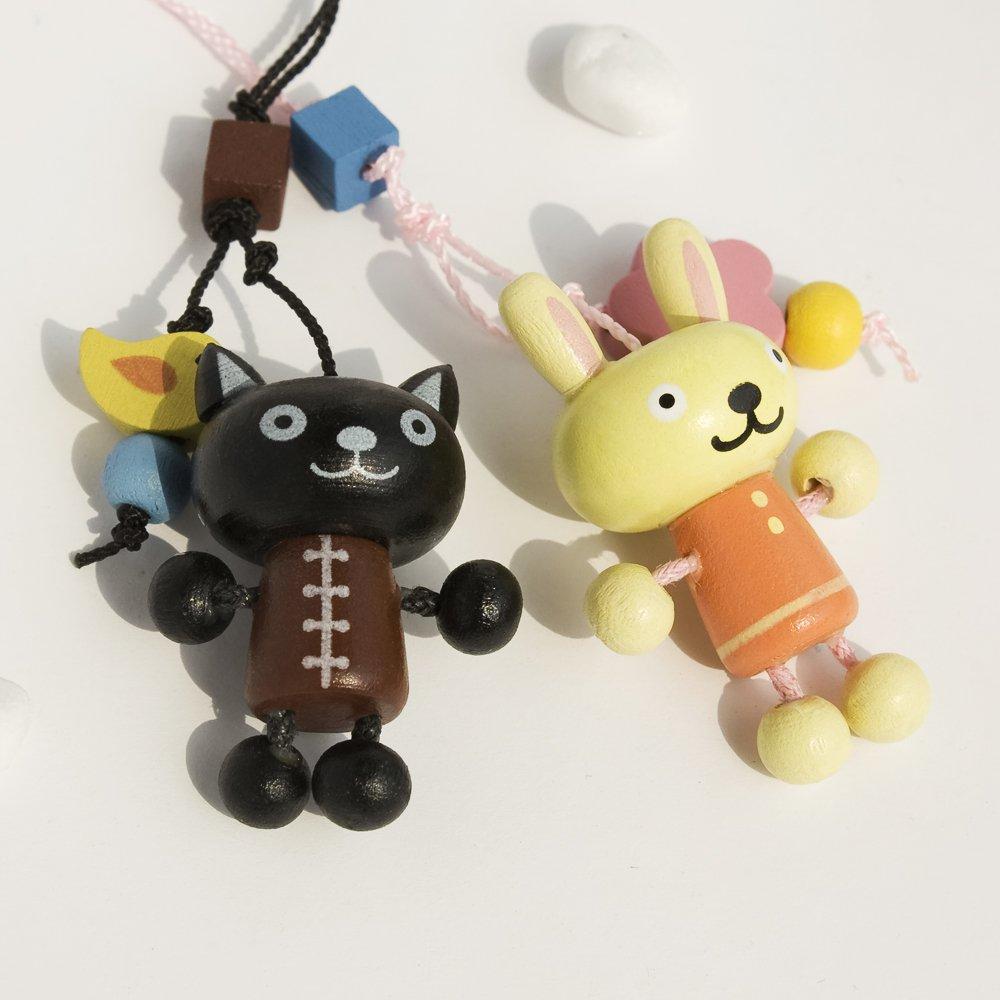 HC-C009-BLRA[Black Cat & Rabbit] - Cell Phone Charm Strap / Camera Charm Strap / Handbags Charms