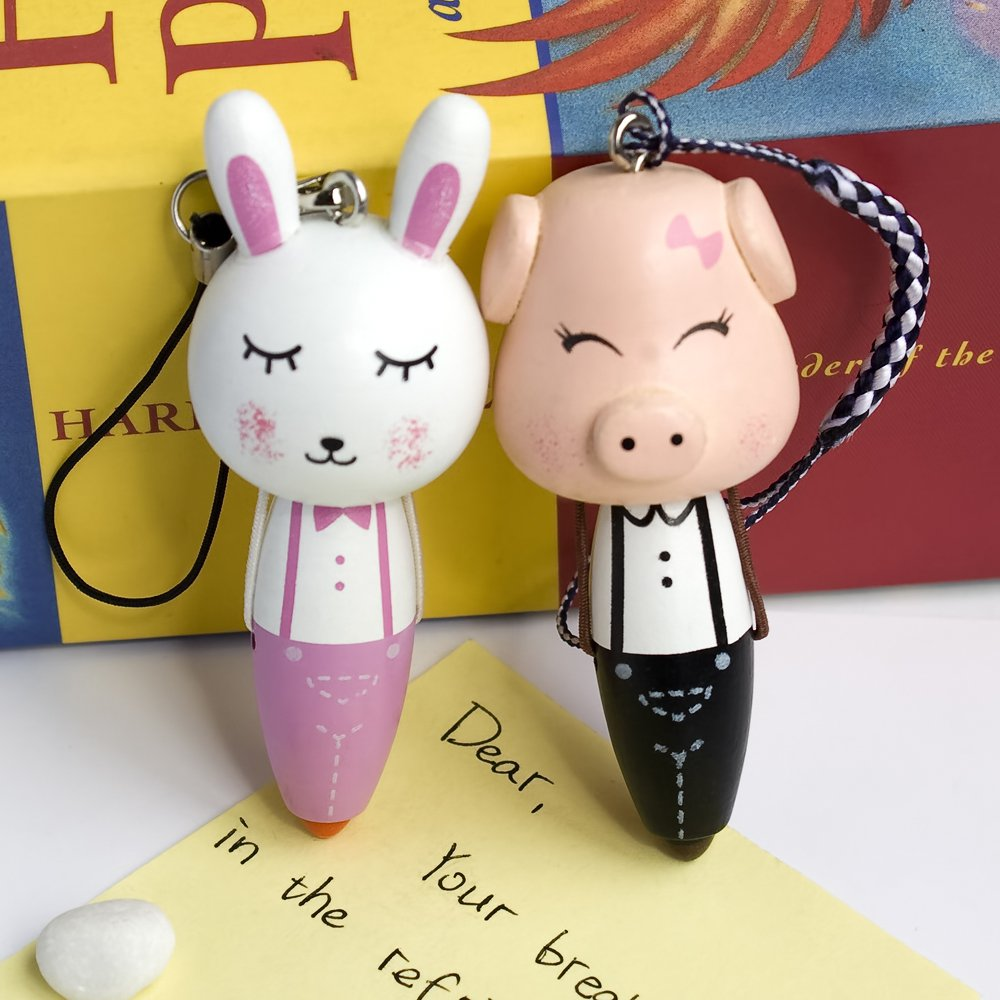 HC-C011-PIRA[Pig & Rabbit] - Cell Phone Charm Strap / Camera Charm Strap / Handbags Charms