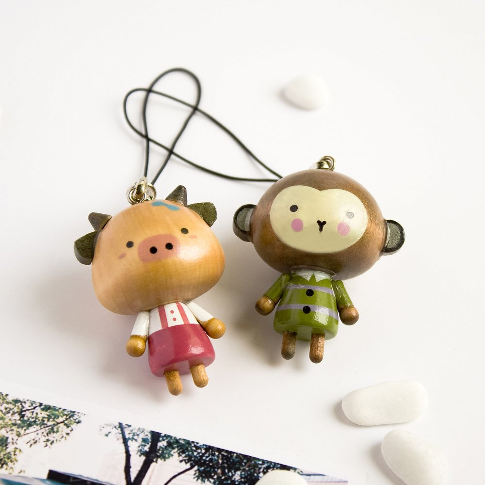 HC-C016-MOPI[Animal's Party-2] - Cell Phone Charm Strap / Camera Charm Strap / Handbags Charms