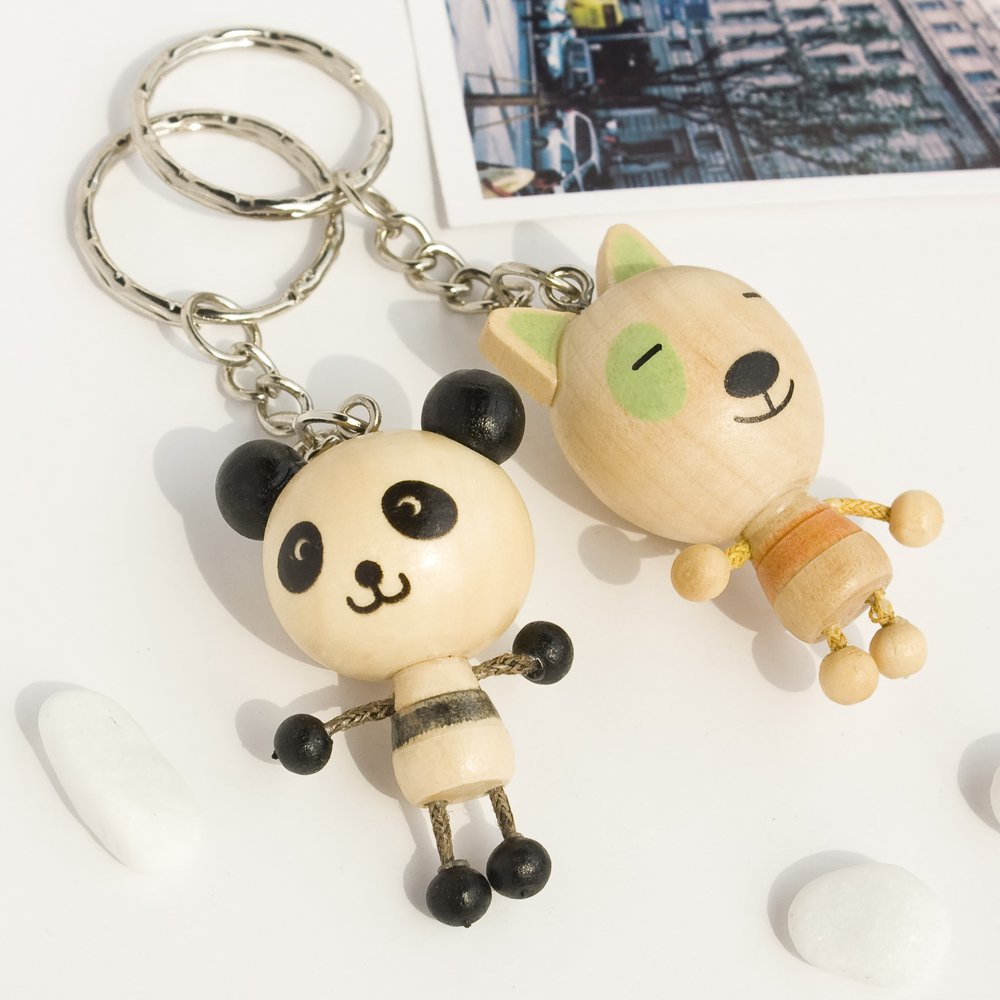 HC-C017-PADO[Panda & Dog] - Cell Phone Charm Strap / Camera Charm Strap / Handbags Charms