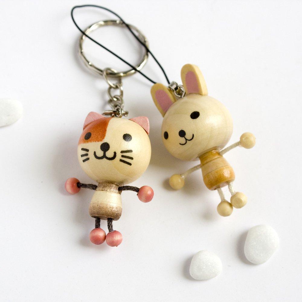HC-C017-CARA[Cat & Rabbit] - Cell Phone Charm Strap / Camera Charm Strap / Handbags Charms