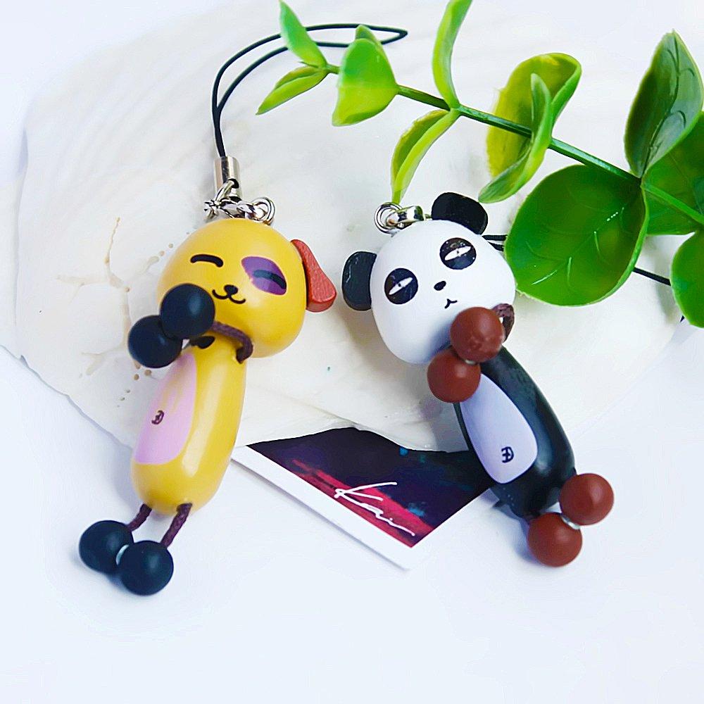 HC-C018-PADO[Happy Panda & Dog] - Cell Phone Charm Strap / Camera Charm Strap / Handbags Charms