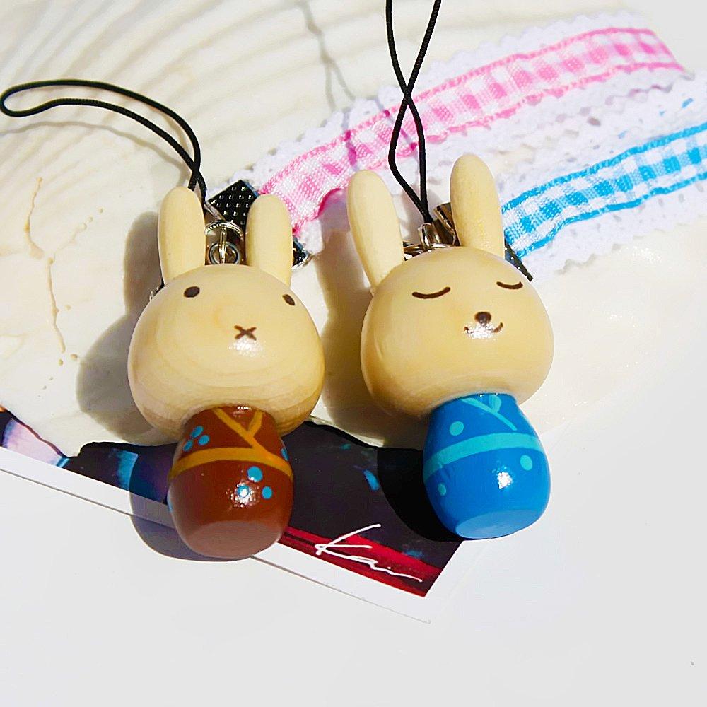 HC-C019-BRBL[Kimono Rabbit-3] - Cell Phone Charm Strap / Camera Charm Strap / Handbags Charms