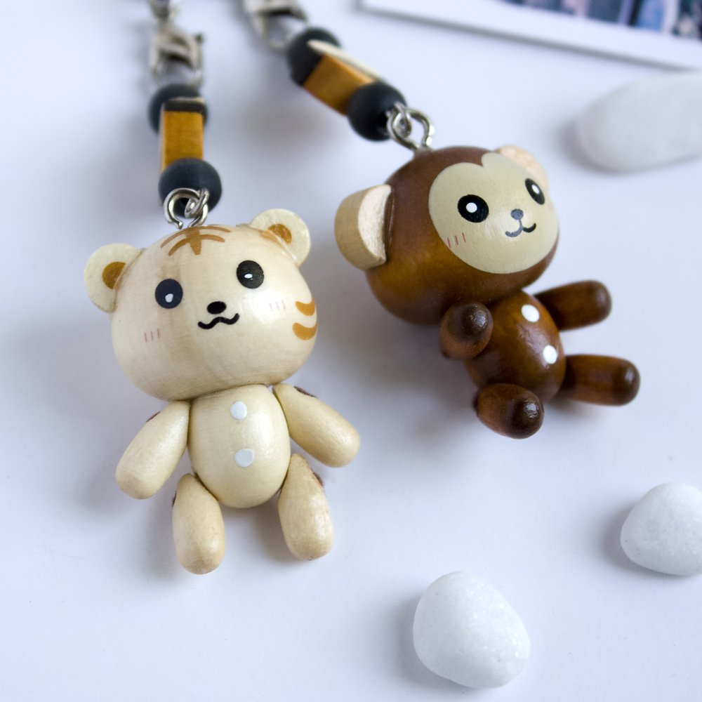 HC-C023-TIMO[Smile Animals-1] - Cell Phone Charm Strap / Camera Charm Strap / Handbags Charms
