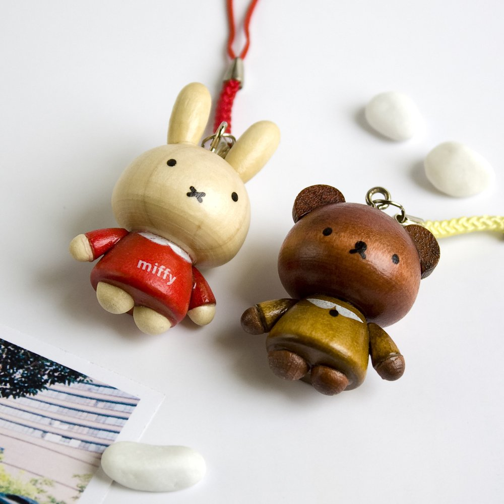 HC-C028-RRYB[Lovely Miffy-3] - Cell Phone Charm Strap / Camera Charm Strap / Handbags Charms