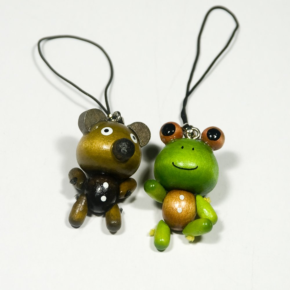 HC-C029-FRBE[Smile Bear & Frog] - Cell Phone Charm Strap / Camera Charm Strap / Handbags Charms
