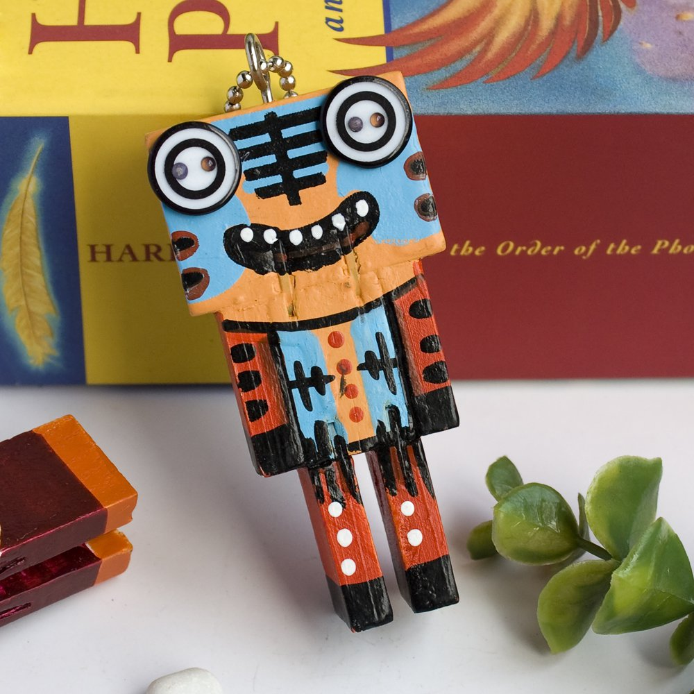 HC-C031-F[Rational Robot-F] - Cell Phone Charm Strap / Camera Charm Strap / Handbags Charms
