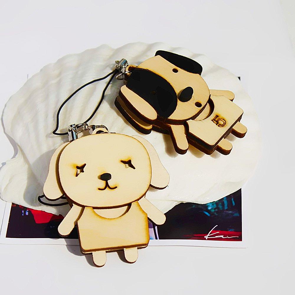 HC-C032-BDO[Wooden Animals-3] - Cell Phone Charm Strap / Camera Charm Strap / Handbags Charms