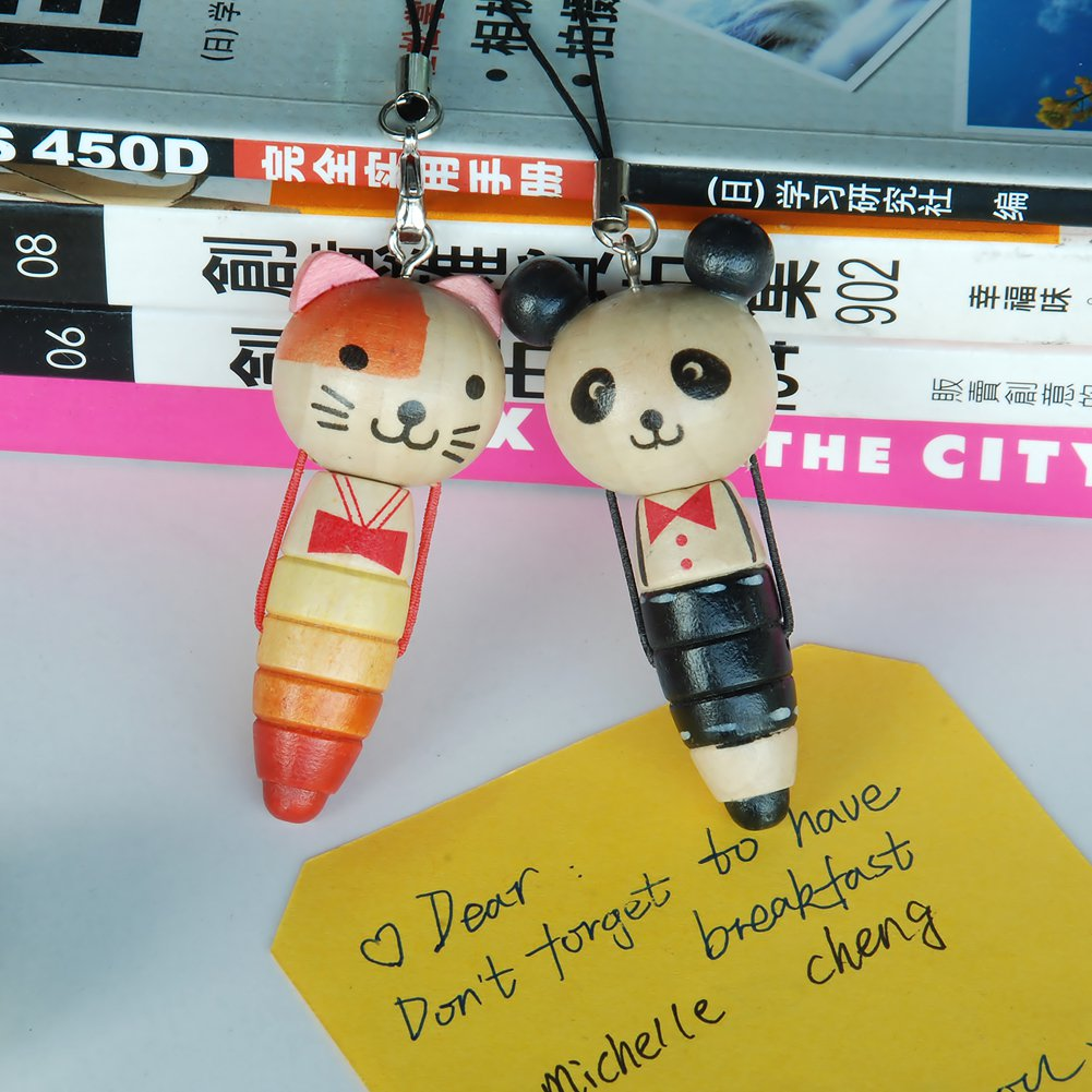 HC-C002-PACA[Panda & Cat] - Cell Phone Charm Strap / Camera Charm Strap / Handbags Charms