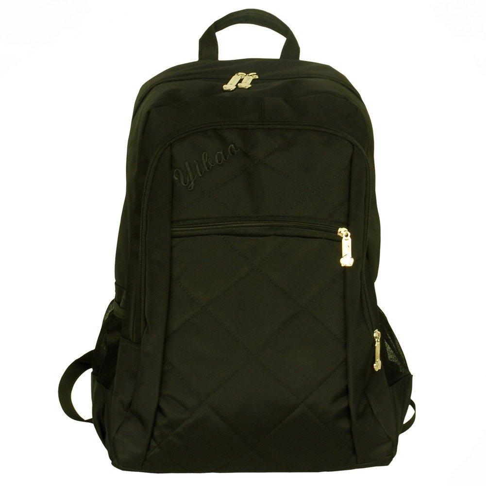 BP-WDL024-BLACK[Diamond Check] Stylish Backpack / School Bag / Laptop Backpack - Black