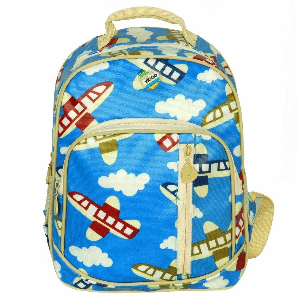 BP-WDL025-BLUE[Little Airplanes] Kid Backpack / Pre-School Backpack / Backpack - Skyblue