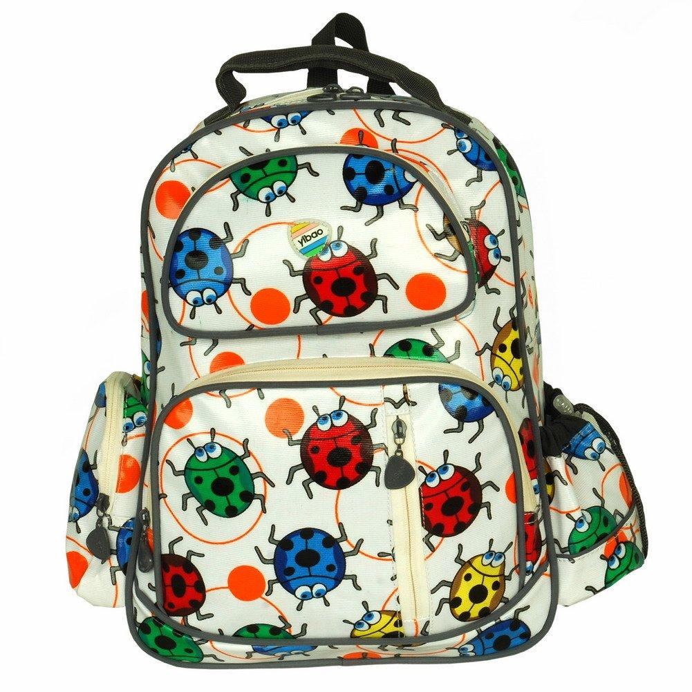 BP-WDL027-WHITE[Lovely Ladybug] Kid Backpack / Pre-School Backpack / Snack Backpack - White