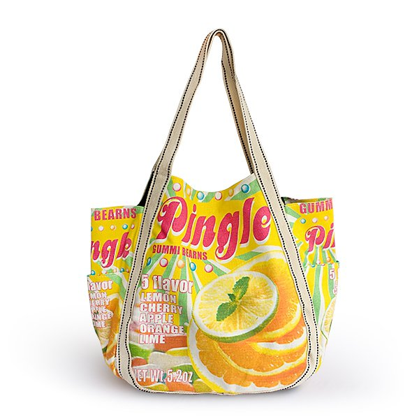 ILEA-AWG-03039[Pingle] Cotton Eco Canvas Shoulder Tote Bag / Multiple Pockets