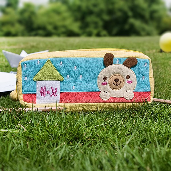 KT-BB-20-DOG[Dog's Home] Pencil Pouch Bag / Cosmetic Bag / Carrying Case (7.5*2.8*1.4)