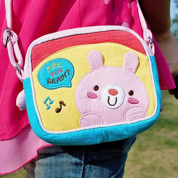 KT-BE-18-RABBIT[Pink Rabbit] Swingpack Bag Purse / Wallet Bag / Shoulder Bag (5.5*4.7*1.2)