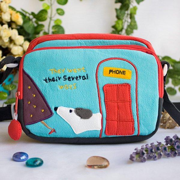 KT-BE-26-BLUE[Hanging Around] Swingpack Bag Purse / Wallet Bag / Shoulder Bag (7.1*5.3*3.7)