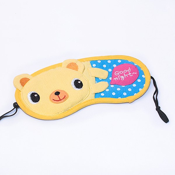 KT-HQ-40-BEAR[Good Night Bear] Eye Shade / Sleeping Mask Cover / Sleep Blinder (7.5*3.5)