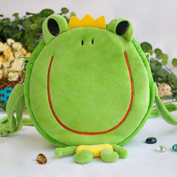 KT-HQ-47-FROG[King Frory] Kids Frog Shoulder Bag / Swingpack / Travel Bag (7.5*7.5*2.7)