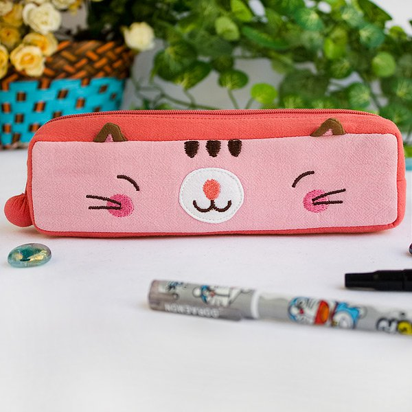 KT-K-126-PINK[Pinky Kitten] Pencil Pouch Bag / Cosmetic Bag / Carrying Case (7.3*1.8*1.9)