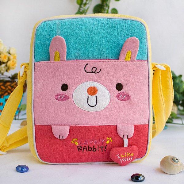 KT-K-137-RABBIT[Lovely Rabbit] Fabric Art Shoulder Bag / Swingpack / Travel Bag (8.1*6.5*2.4)