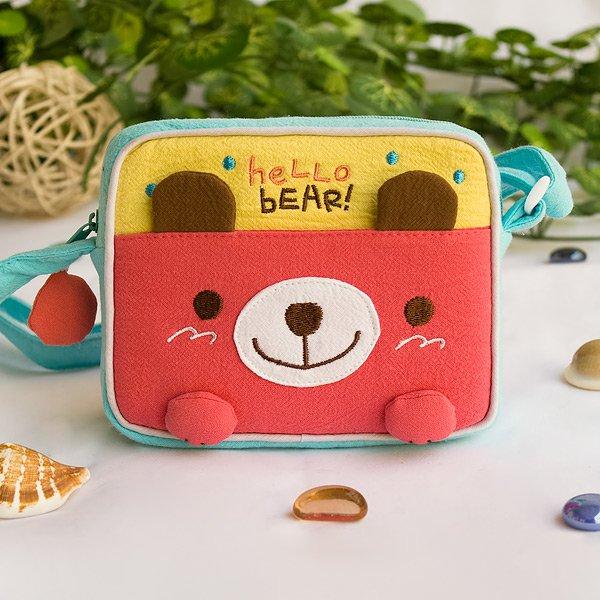 KT-K-139-BEAR[Hello Bear] Swingpack Bag Purse / Wallet Bag / Shoulder Bag (5.5*4.7*1.2)