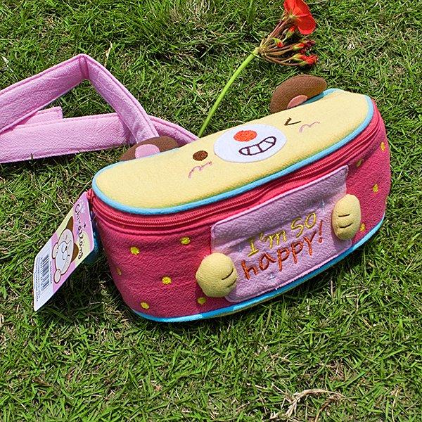 KT-K-154-HAPPY[Happy Cat] Kids Fanny Waist Pack / Travel Lumbar Pack (7.1*3.1*2.8)