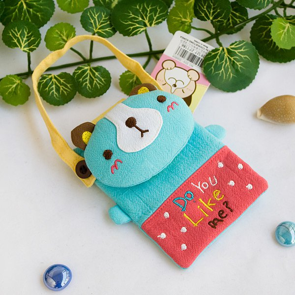KT-K-212-BEAR[Pretty Bear] Mini Swingpack Bag Purse / Wallet Bag / Camera Bag (4.4*3.2)