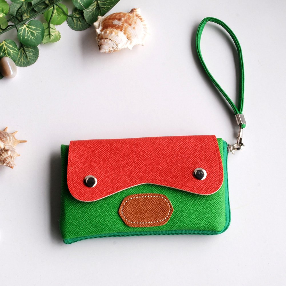 FB-BX001-GREEN[Youthful Vigour] Colorful Leatherette Mobile Phone Pouch Cell Phone Case Clutch Pouch