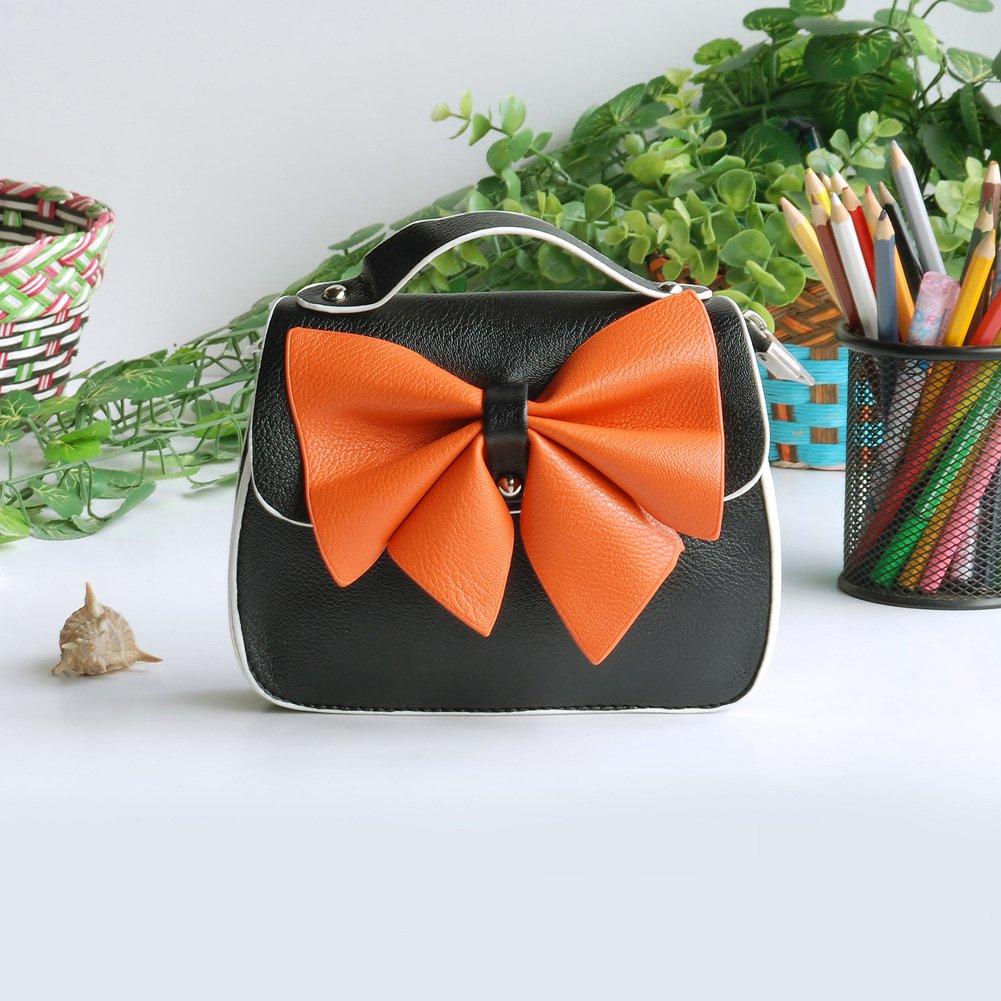 FB-BX067-BLACK[Charm Bowknot] Colorful Leatherette Clutch Shoulder Bag Clutch Casual Purse