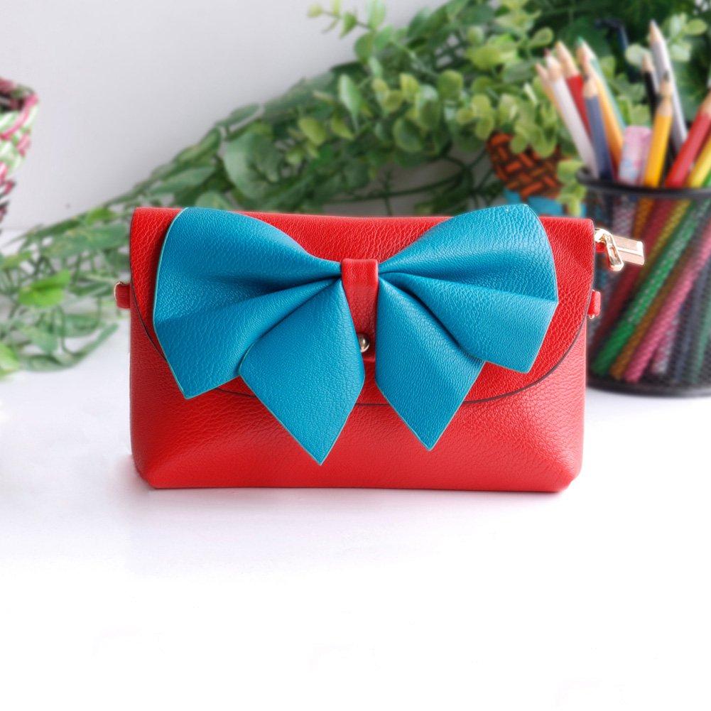 FB-BX069-RED[Fresh Color] Colorful Leatherette Clutch Shoulder Bag Clutch Casual Purse