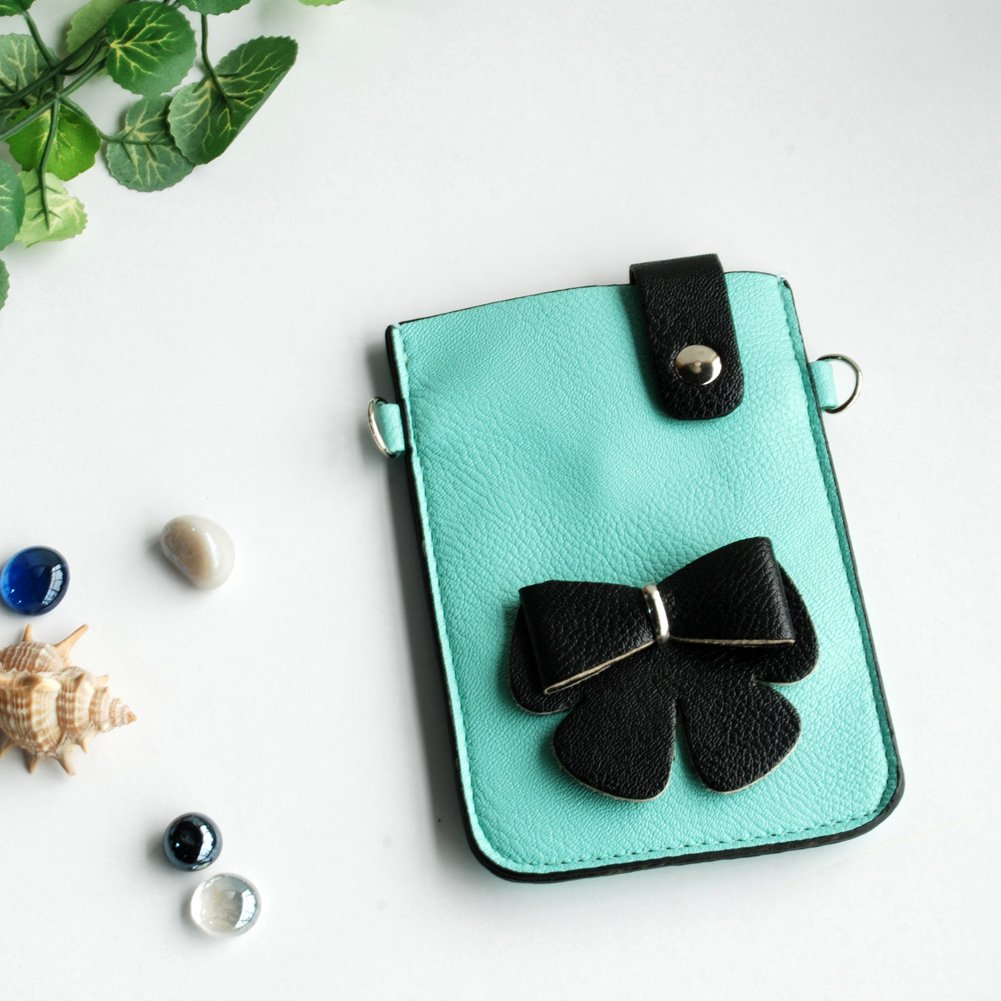 FB-BX9220-BLUE[Praver] Colorful  Leatherette Mobile Phone Pouch Cell Phone Case Clutch Pouch