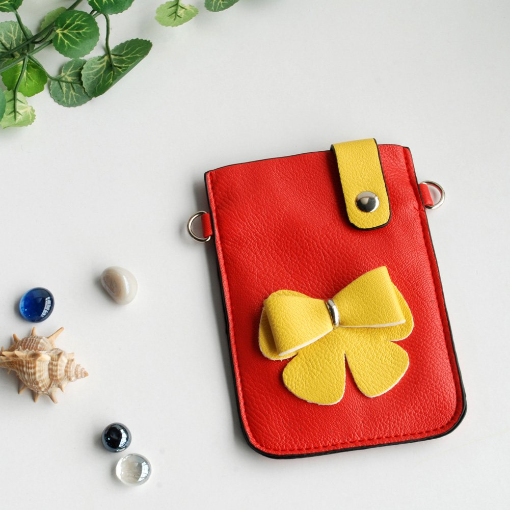 FB-BX9220-RED[Exclusive Queen] Colorful  Leatherette Mobile Phone Pouch Cell Phone Case Clutch Pouch