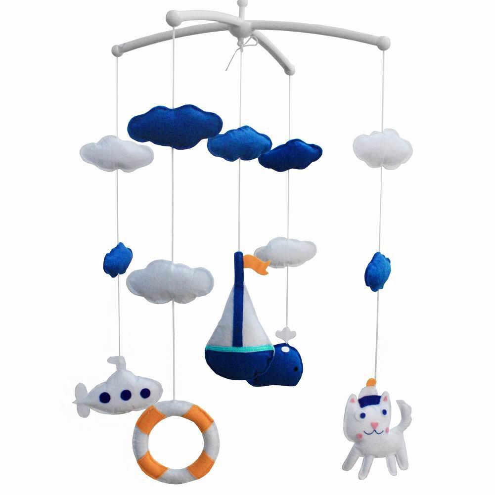 BC-BAB-ONIM0002-BELL-CATH Music Crib Mobile Crib Decorations Handmade Baby Mobile Educational Toy