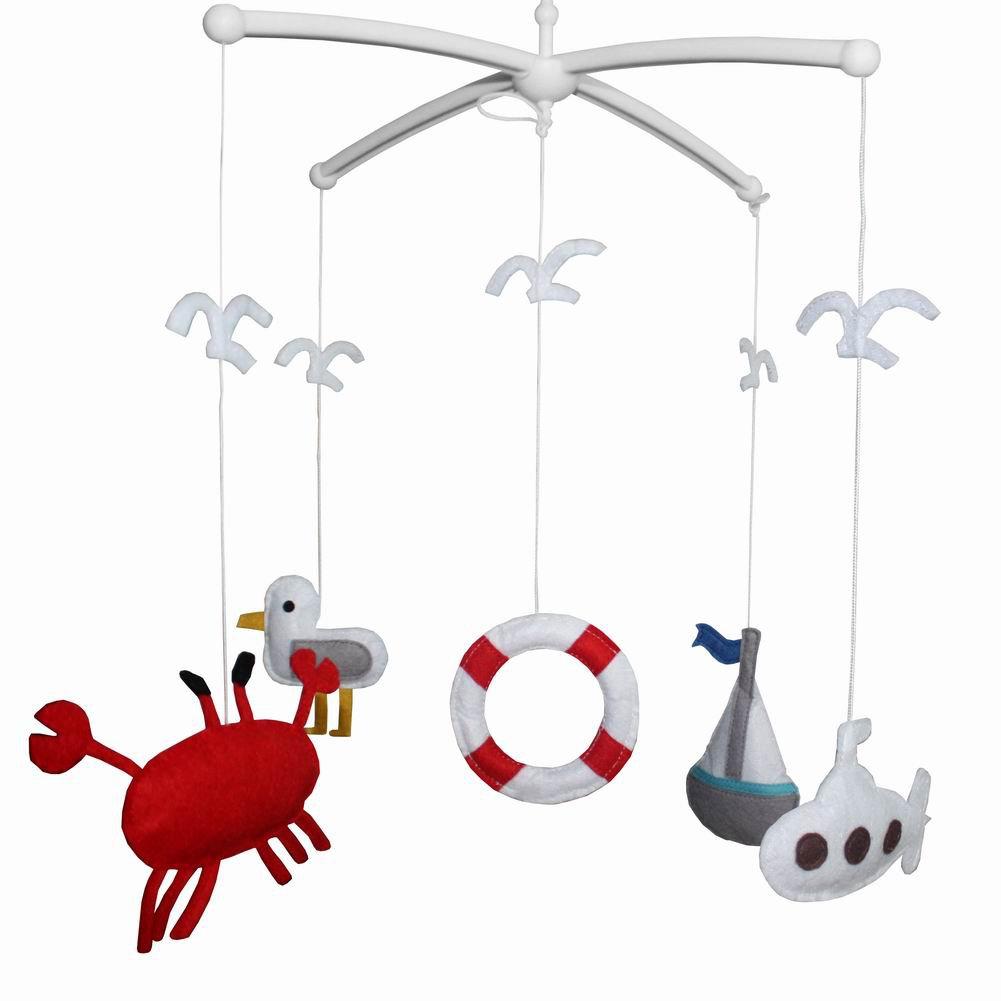 BC-BAB-ONIM0003-BELL-CATH Handmade Crib Mobile Creative Baby Mobile Baby Toy, Crib Decorations