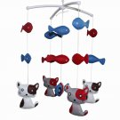 BC-BAB-ONIM0007-MIKI-CATH Baby's Friend Crib Mobile Crib Decorations Handmade Cot Mobile [Cat&Fish]