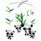 BC-BAB-ONIM0019-MIKI-CATH [ Cute Pandas ] Lovely Infant Music Mobile Handmade Baby Crib Mobile