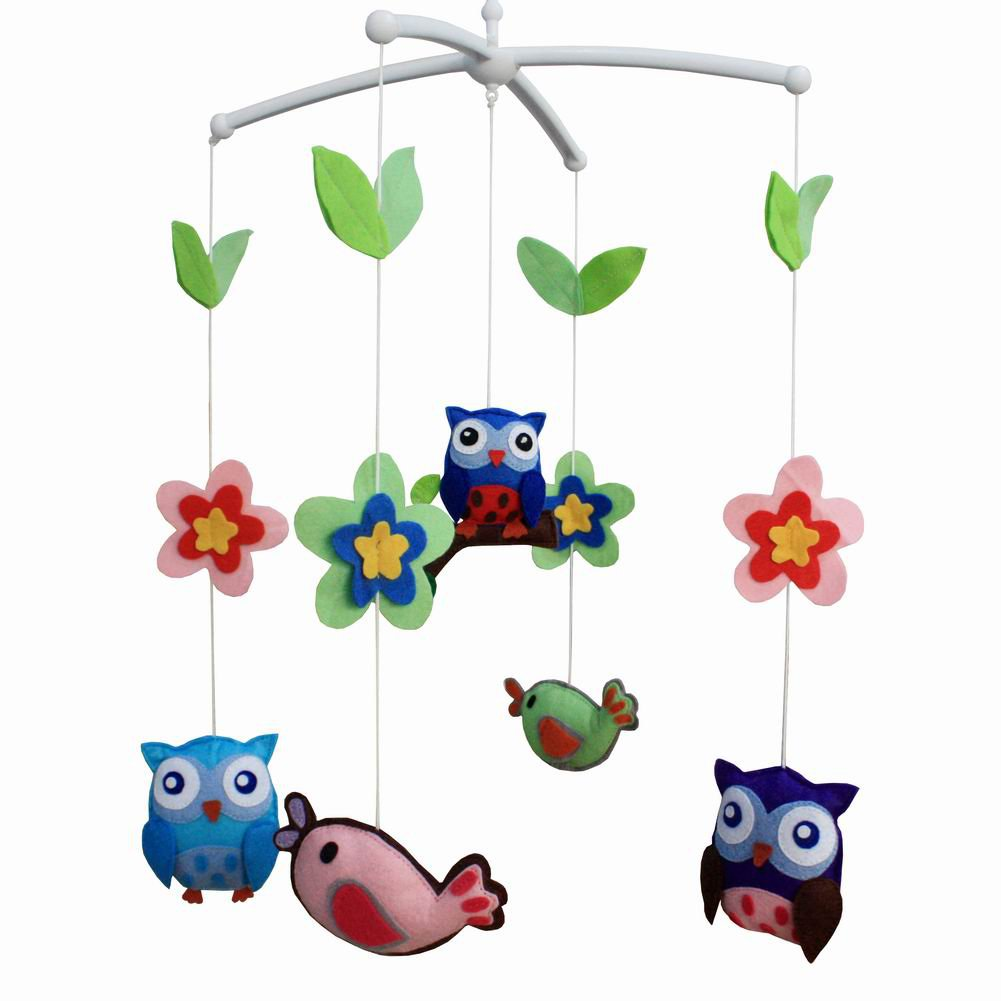 BC-BAB-ONIM0021-MIKI-CATH Creative Lovely Musical Mobile Handmade Baby Crib Mobile [Animal Friend]